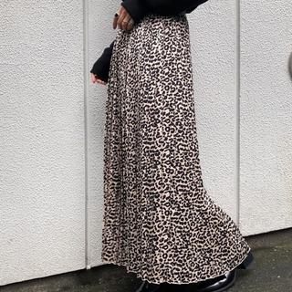 ページボーイ(PAGEBOY)のレオパードスカート(ロングスカート)