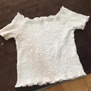 ジーユー(GU)のGU オフショルトップス(Tシャツ(長袖/七分))