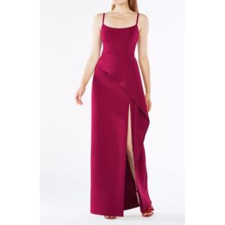 ビーシービージーマックスアズリア(BCBGMAXAZRIA)のBCBGMAXAZRIA ぺプラム ロングドレス 赤 BYM61J34-P6S(ロングドレス)