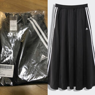アディダス(adidas)のadidas♡新品♡ロングスカートBLK(ロングスカート)