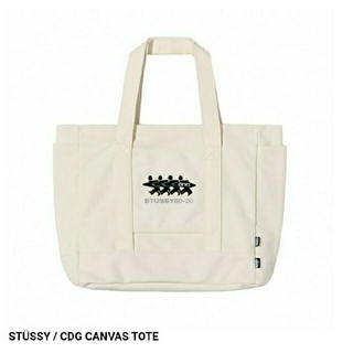 CDG x STUSSY CANVAS TOTE (NATURAL)