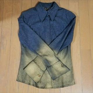 フェンディ(FENDI)のFENDI ラメ、箔、カフスデニムシャツ(シャツ/ブラウス(長袖/七分))