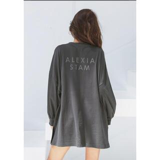 アリシアスタン(ALEXIA STAM)のBack Separated Logo Long Sleeve Tee (Tシャツ/カットソー(七分/長袖))