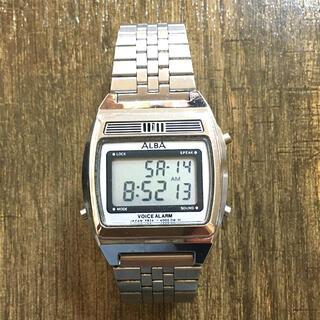 セイコー(SEIKO)の【音声時計】SEIKO ALBA VOICE ALARM 腕時計(腕時計(デジタル))