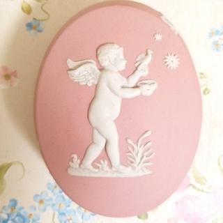 ウェッジウッド(WEDGWOOD)のウェッジウッド、天使の小物入れ、ピンク(小物入れ)