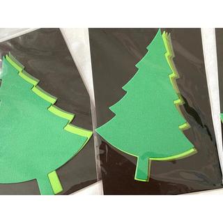 【お得】 ダイカット ペーパー ツリー カード スクラップ パーツ コラージュ(カード/レター/ラッピング)