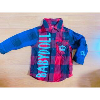 ベビードール(BABYDOLL)のベビードール チェックシャツ トップス Tシャツ ネルシャツ 長袖(シャツ/カットソー)