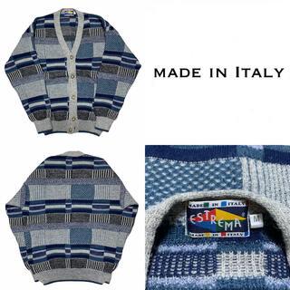 アートヴィンテージ(ART VINTAGE)のイタリア製 Italy 総柄 ウール ニット セーター ユーロ ヨーロッパ古着(ニット/セーター)