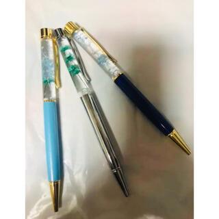 ハンドメイド ハーバリウムペン ボールペン(水色)(その他)