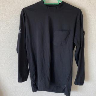 トライチ(寅壱)の中古寅壱ローネック長袖シャツ黒色Mサイズ(Tシャツ/カットソー(七分/長袖))