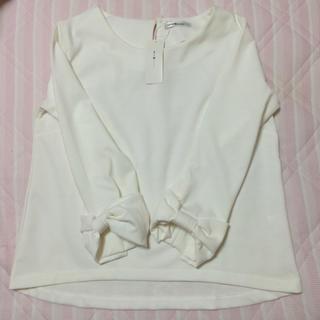 アベイル(Avail)の新品タグ付♡リボン袖カットソー(カットソー(長袖/七分))