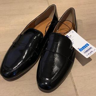 ジーユー(GU)のシフォンフラットローファー 新品未使用 XL(ローファー/革靴)