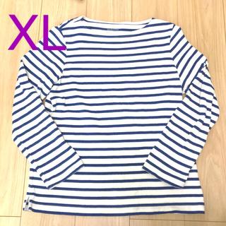 MUJI (無印良品) - 無印良品 太番手ボートネック 長袖Tシャツ XL