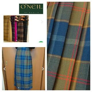 オニール(O'NEILL)のO'NEIL of DUBLIN チェックキルトロングスカート(ロングスカート)
