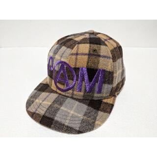 パム(P.A.M.)のPAM P.A.M. パム キャップ 帽子 刺繍 チェック 7 1/2 59.6(キャップ)