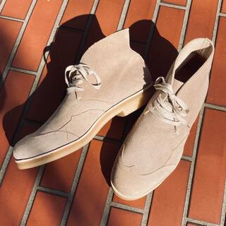 フットザコーチャー(foot the coacher)の美品 ◆ foot the coacher スエード チャッカーブーツ 日本製(ブーツ)