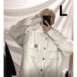 カーハート(carhartt)の新品♡カーハート WIP ジャケット デニムジャケット白 ホワイトL(Gジャン/デニムジャケット)
