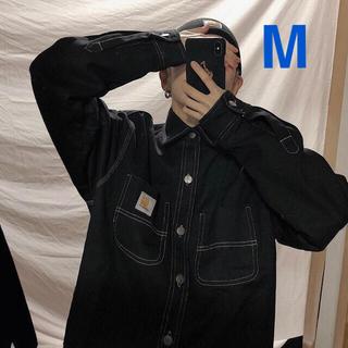 カーハート(carhartt)の新品♡カーハート ジャケット デニムジャケット黒 ブラックM(Gジャン/デニムジャケット)