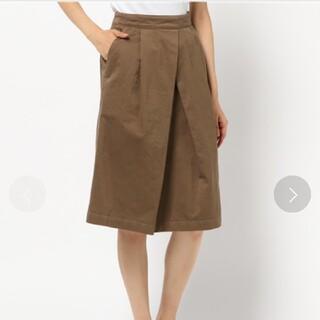 マーガレットハウエル(MARGARET HOWELL)のMHL.◆DRY DRILL スカート◆オーバーオールスカート(ひざ丈スカート)