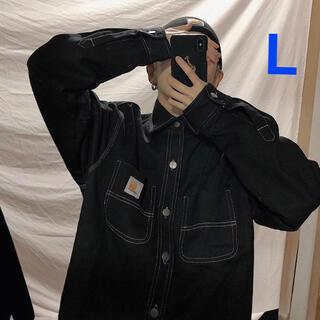 カーハート(carhartt)の新品♡カーハート ジャケット デニムジャケット黒 ブラックL(Gジャン/デニムジャケット)