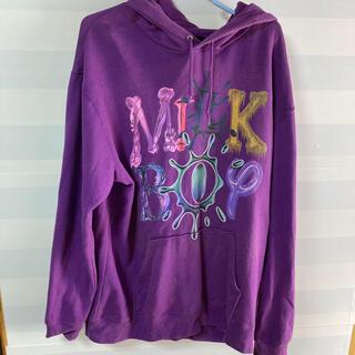 ミルクボーイ(MILKBOY)のMILKBOY ロゴ入り パーカー Lサイズ パープル 紫  (パーカー)