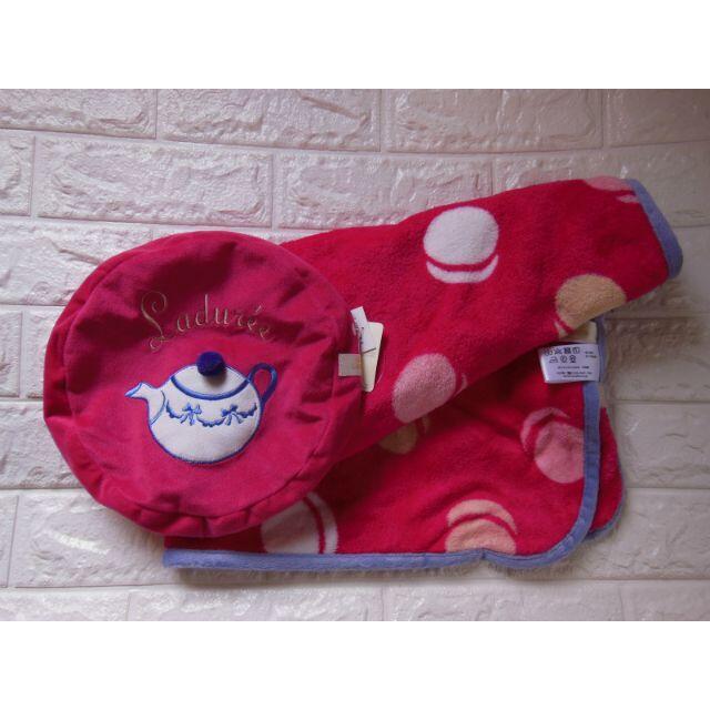 LADUREE(ラデュレ)の新品未使用タグ付★LADUREE ラデュレ ブランケット&ポット柄カバー レディースのファッション小物(その他)の商品写真