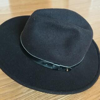 エイチアンドエム(H&M)の帽子(秋冬)つば広め(ハット)