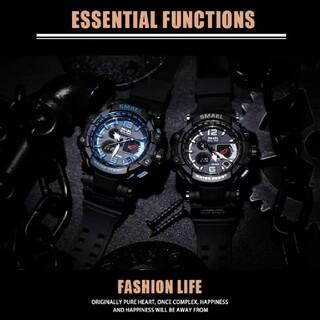 送料無料 【新品】腕時計 SMAEL WS1509 ダークブルー 多機能(腕時計(デジタル))