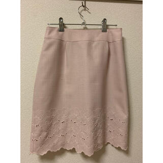 デビュードフィオレ(Debut de Fiore)の薄ピンク色 タイトスカート(ひざ丈スカート)