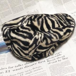 ◆40 期間限定 当時物 レア 未使用 グッドロッキン ハンチング帽 ゼブラ柄