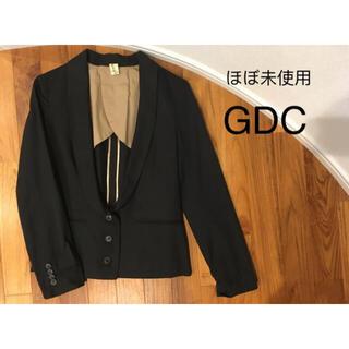 ジーディーシー(GDC)の【ほぼ未使用】GDC ジャケット ショールカラー/ブラック (テーラードジャケット)