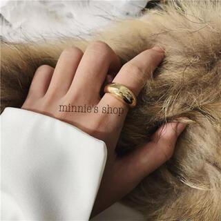 アメリヴィンテージ(Ameri VINTAGE)のぷっくり デザインリング ゴールド ニッケルフリー(リング(指輪))