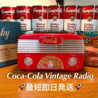 コカコーラ(コカ・コーラ)のCoca-Cola Vintage Radio  コカコーラビンテージ調 ラジオ(その他)