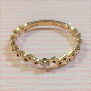 ジュピターゴールドレーベル(jupiter GOLD LABEL)の最終価格♪【Jupiter】K10 3号 リング ダイアモンド0.01ct(リング(指輪))