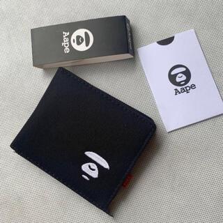 アベイシングエイプ(A BATHING APE)の【新品未使用】Aape 財布 ウォレット ブラック(折り財布)