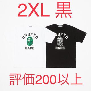 アベイシングエイプ(A BATHING APE)のBAPE X UNDFTD COLLEGE TEE 2XL(Tシャツ/カットソー(半袖/袖なし))