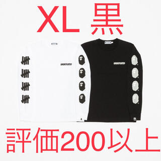 アベイシングエイプ(A BATHING APE)のBAPE X UNDFTD LONG SLEEVE TEE black XL(Tシャツ/カットソー(半袖/袖なし))