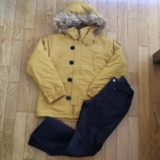 オンヨネ(ONYONE)の150cm スキーウェア 中綿ジャケット コート裏ボア付きパンツ(ウエア)