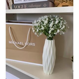 ZARA HOME - フラワーベース プラスチック 花瓶 ホワイト インテリア