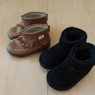ブリーズ(BREEZE)の秋冬靴二足セット14センチ(スニーカー)