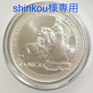 【shinkou様専用】ウナとライオン1オンス銀貨 ダイレクト・フィットカプセル(貨幣)