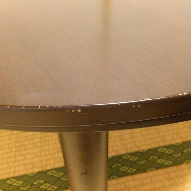 MUJI (無印良品)(ムジルシリョウヒン)の無印良品丸型こたつテーブル インテリア/住まい/日用品の机/テーブル(ローテーブル)の商品写真