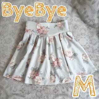 バイバイ(ByeBye)の【ByeBye】花柄スカート Mサイズ(ミニスカート)