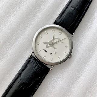 アニエスベー(agnes b.)のアニエスベー メンズクォーツ腕時計 稼動 ベルト未使用(腕時計(アナログ))