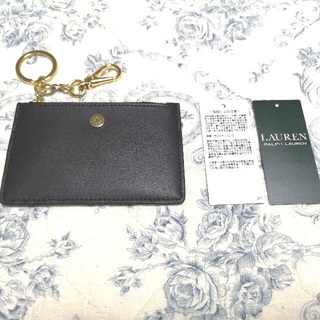 ラルフローレン(Ralph Lauren)の新品 ラルフローレン  財布 黒 カードケース/ID パスケース キーリング付(コインケース)