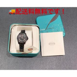 フォッシル(FOSSIL)の*新品 FOSSIL フォッシル AM4585 ブラック ステンレス 腕時計(腕時計)