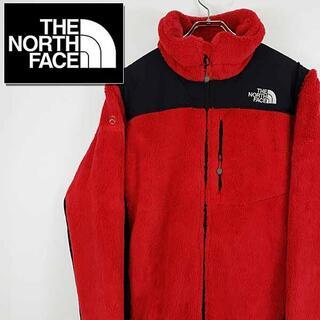 ザノースフェイス(THE NORTH FACE)の【古着】ノースフェイス サミットシリーズ フリースジャケット レッド M(ニット/セーター)