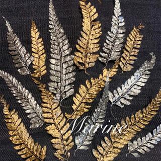 ヒメワラビ お正月花材 クリスマス花材 14枚 シルバー ゴールド(ドライフラワー)