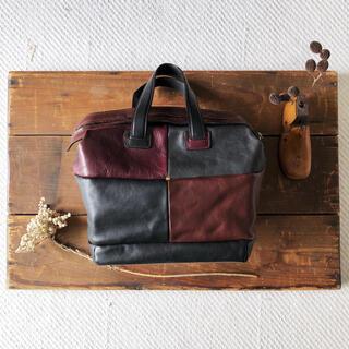 ミナペルホネン(mina perhonen)のミナペルホネン block bag レザー バッグ(ハンドバッグ)