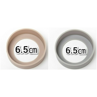 直径6.5㎝ベージュ①個グレー①個水筒カバー ストロー サーモス(水筒)